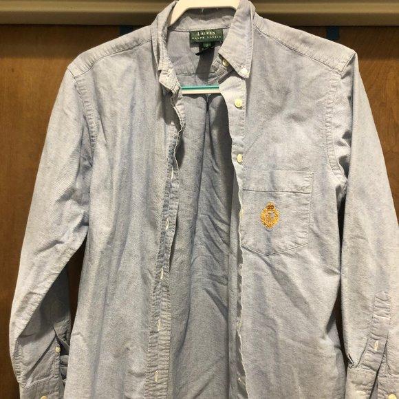 Lauren by Ralph Lauren Boys Denim Shirt Size 12